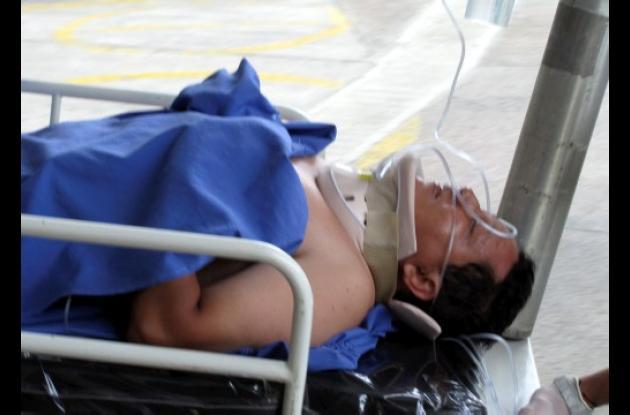 Roberto Carlos Palmet Oviedo, motociclista herido.