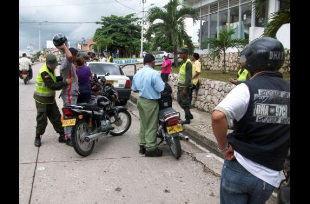 requisas adelantadas por la Policía Nacional
