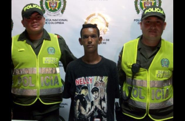 Franklin Javier Díaz Salgado, capturado por la Policía Nacional.