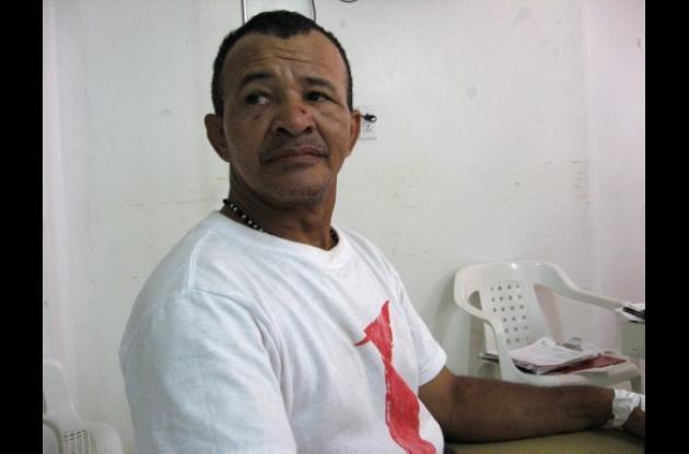 Iván de Jesús Prada Camaño, líder apaleado.