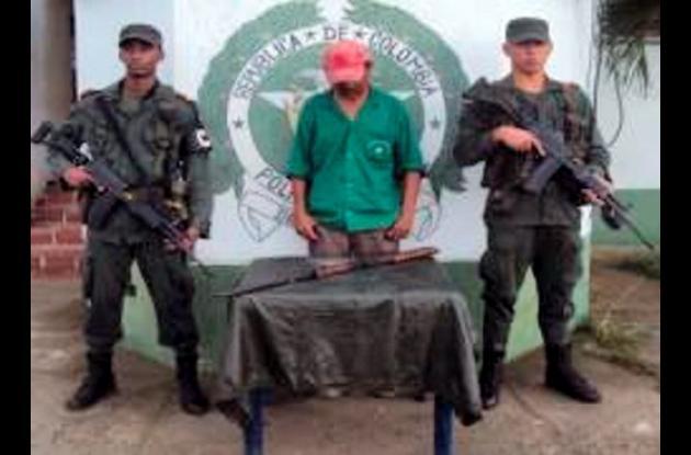 Jairo José Álvarez Ricardo, capturado por porte ilegal de arma.
