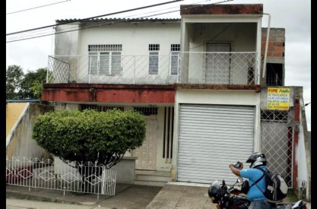 Casa del barrio La Pajuela, donde ocurrieron los hechos