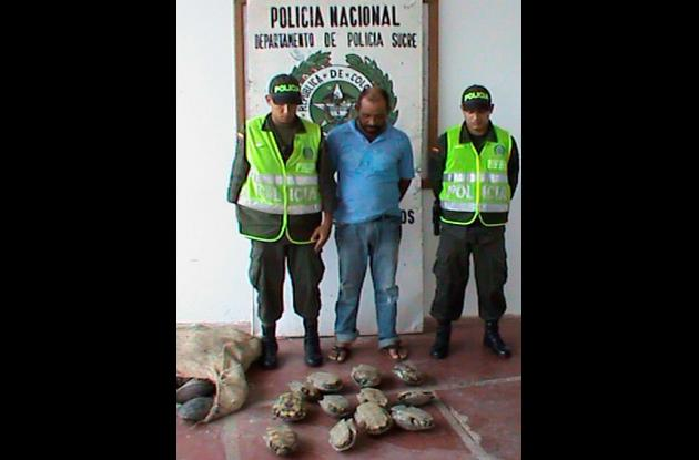 Never Luis Regino Prasca, capturado por aprovechamiento de recursos naturales.