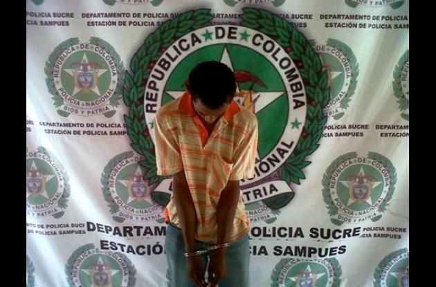 Gabriel Antonio Hernández Valderrama, capturado.
