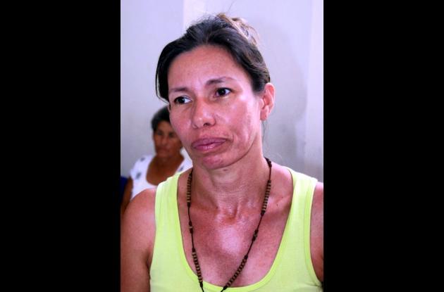Ana Lucía Acosta, madre del herido.