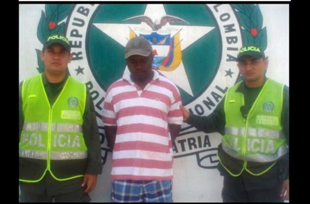 Luis Fernando Mosquera Mena, capturado por hurto.