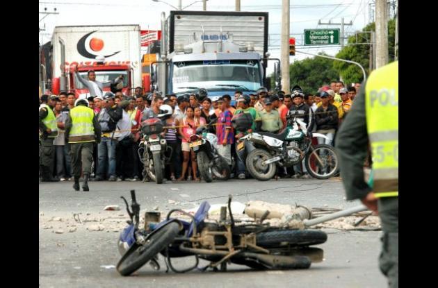 accidente de la Carretera Troncal de Occidente en su cruce por Sincelejo.