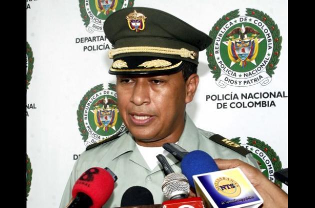 Coronel Orlando Polo, comandante Policía Sucre.