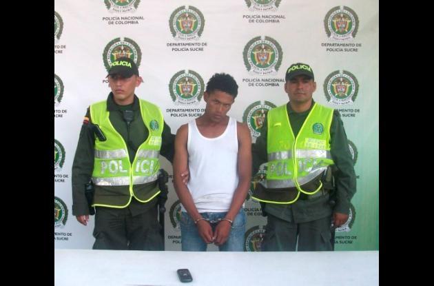 Leonardo Solórzano Castillo, capturado por hurto.