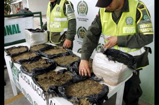 Marihuana decomisada