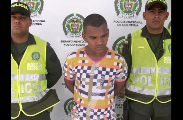 Carlos Mario Pérez Redondo, capturado con droga.