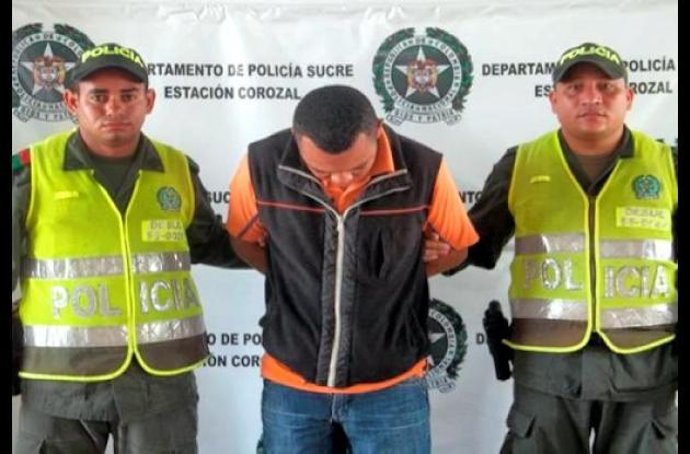 Luis Carlos Flórez Martínez, capturado con droga.