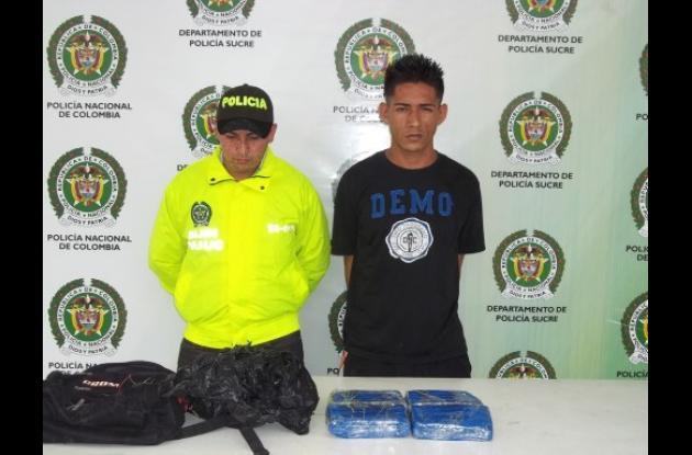 Leder Alfonso Miranda Cohen, capturado con marihuana.