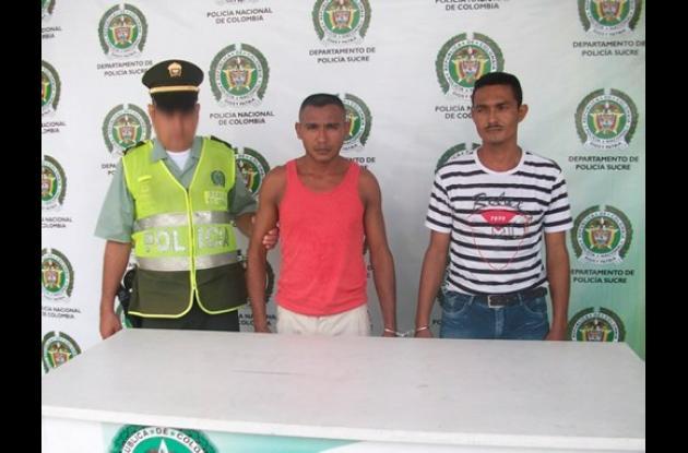 Alexander Barroso Miranda y Félix Noel Vergara Ortega, capturados con marihuana.