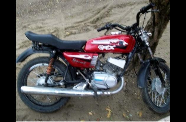 Motocicleta recuperada en el municipio de Corozal.