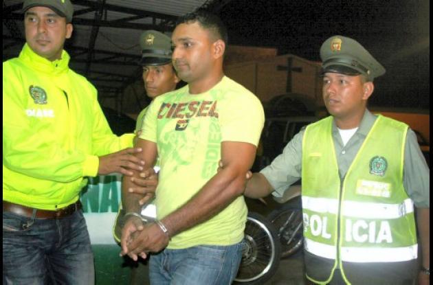 """Fabián José Salgado, alias """"Pepe"""", capturado en el municipio de Corozal."""
