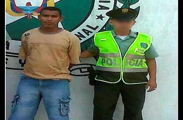 Víctor Manuel Anaya Herazo, capturado con estupefacientes.