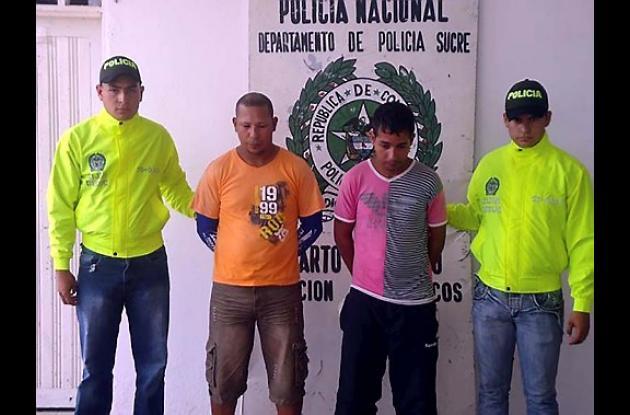 """Capturados en San Marcos, presuntos miembros de banda criminal """"Los Urabeños""""."""