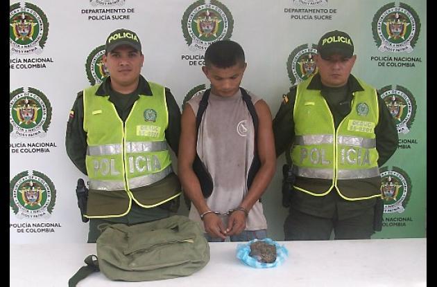 Wilfrido Sierra Peña, capturado con estupefacientes.