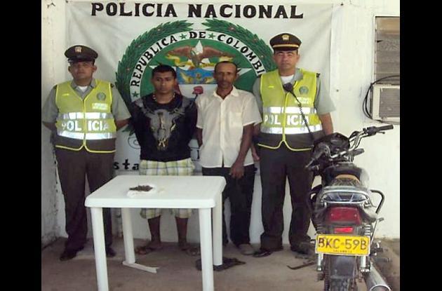 Michel Pérez Galván y  Dalmiro Navarro Jiménez, sorprendidos con droga