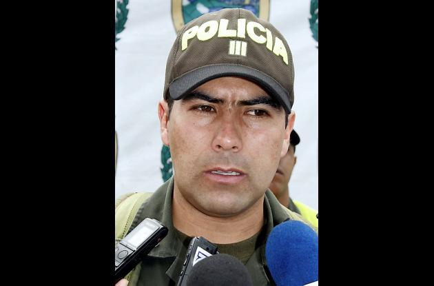 Capital Gustavo Chaparro, Comandante Policía de Carreteras Sucre.