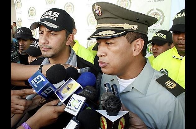 Comandante de la Policía en Sucre, Coronel Orlando Polo Obispo.