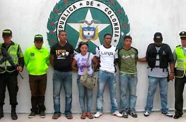 Miembros de Los Urabeños dejados a disposición de las autoridades