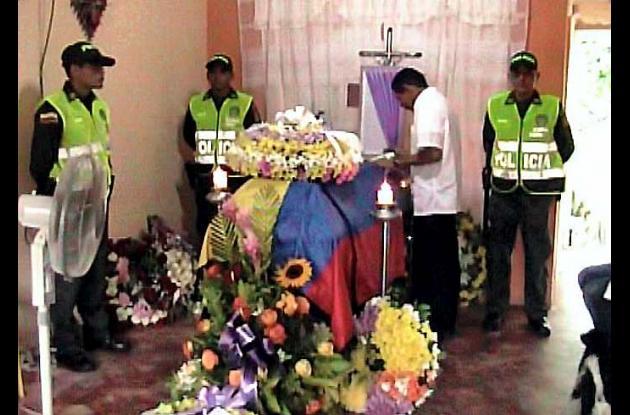 Ayer se cumplió el sepelio del patrullero Maicol José Martínez Sierra