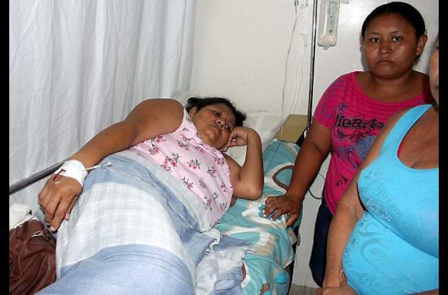Etilvia Reyes Rendón, hospitalizada tras el accidente.