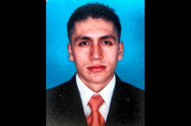 Wilson Javier Balaguera Rincón, patrullero fallecido.