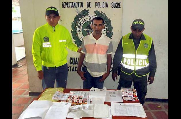 aspirante, Rubén Dario Oviedo Álvarez, capturado por fraude electoral
