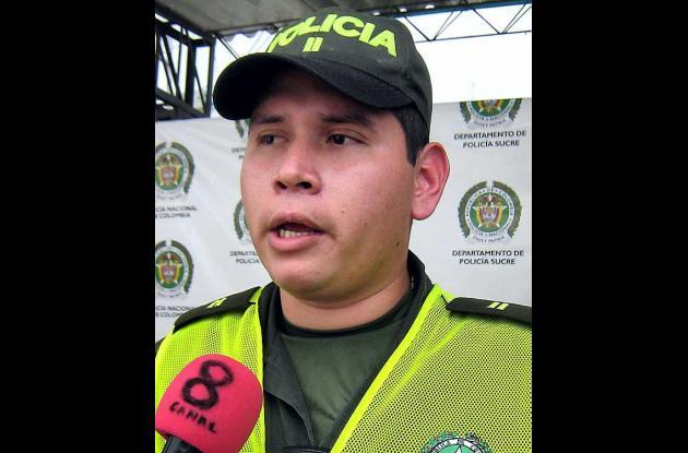 Teniente Óscar Sanmiguel, comandante estación de Policía de Tolú.