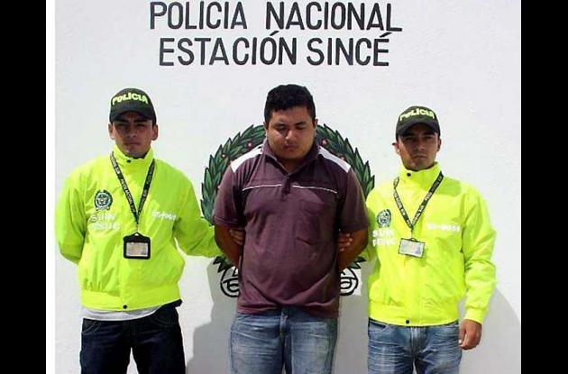 Adrián Alexis Acosta Ramírez, capturado por orden judicial.