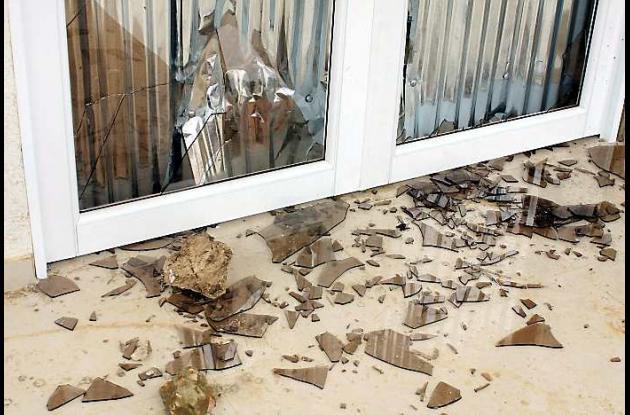 Los destrozos en la nueva sede de la Alcaldía de Colosó quedaron como evidencia