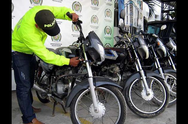 Alrededor de 16 personas han sido capturadas por hurto de motos