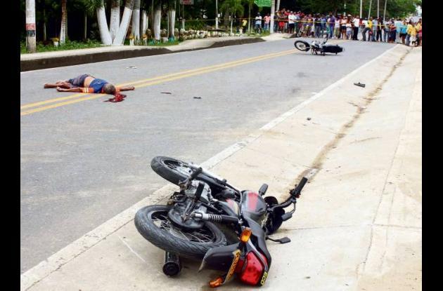 El accidente se registró a eso de las 3:30 de la tarde