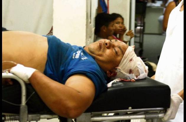 Giovani del Cristo Domínguez, lesionado al caer de un segundo piso.