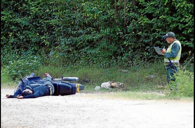 la víctima se movilizaba en una motocicleta.