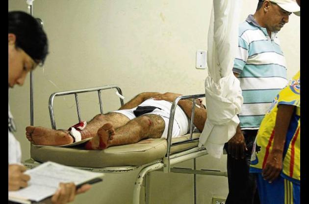 heridos del accidente de la tarde del domingo pasado