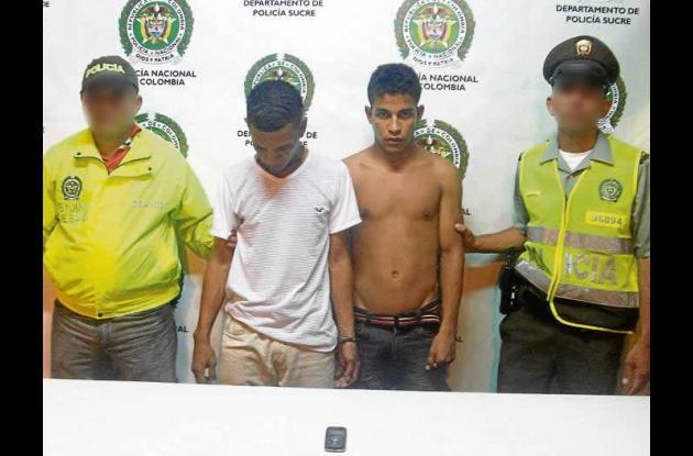 Fredy Antonio Bernal Vega y Harold Ernesto Morales Hincapié, capturados.