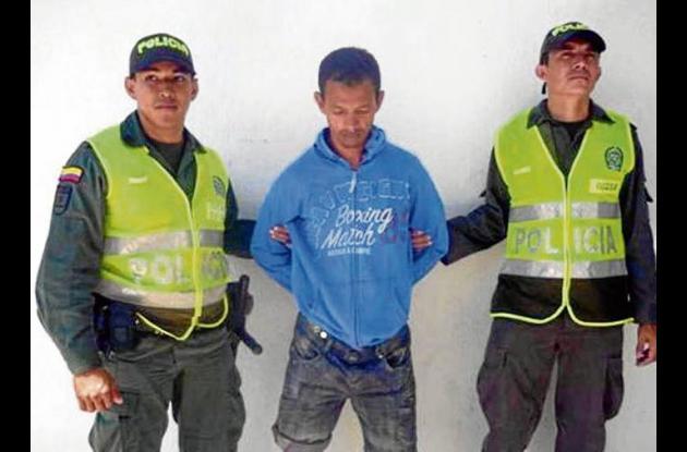Alexander Javier De La Rosa Salcedo, capturado.