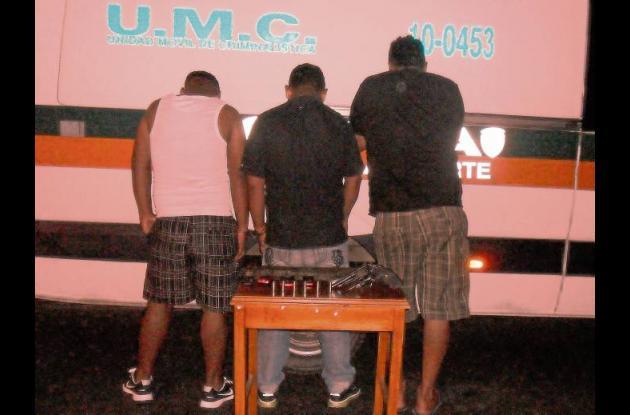 Carlos Vitola , José Mejía y Jehiner José Suárez Marín, capturados.