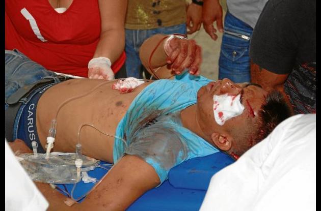 Ilder José Márquez Peña, herido.