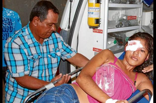 Leidy Márquez Mosquera, herida.