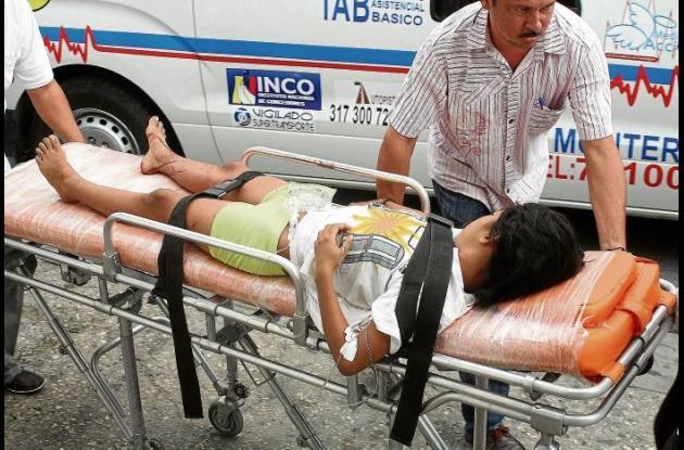 Una de las personas heridas en el accidente fue una niña de 10 años.