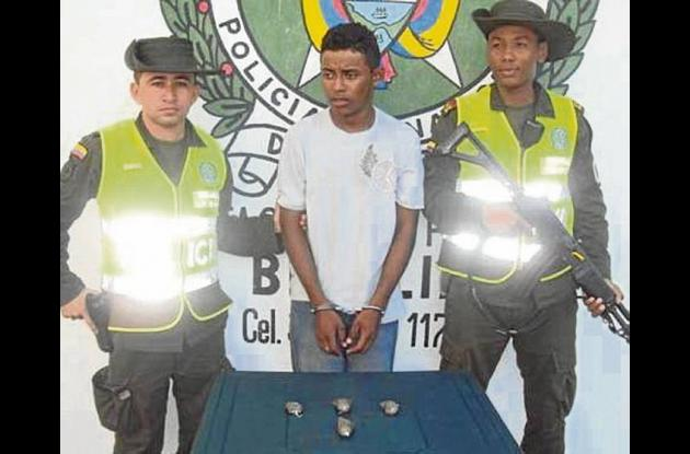 Jesús Rafael Galván Mercado, capturado con droga.