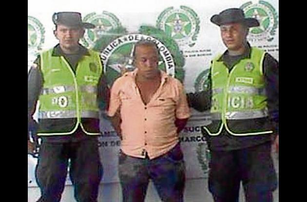 José Gregorio Castro Suárez, capturado con droga.
