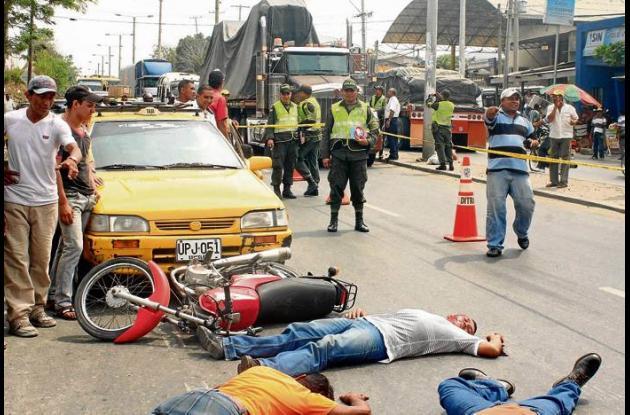 El cuadro vivo sobre el accidente se efectuó frente al Terminal de Brasilia.