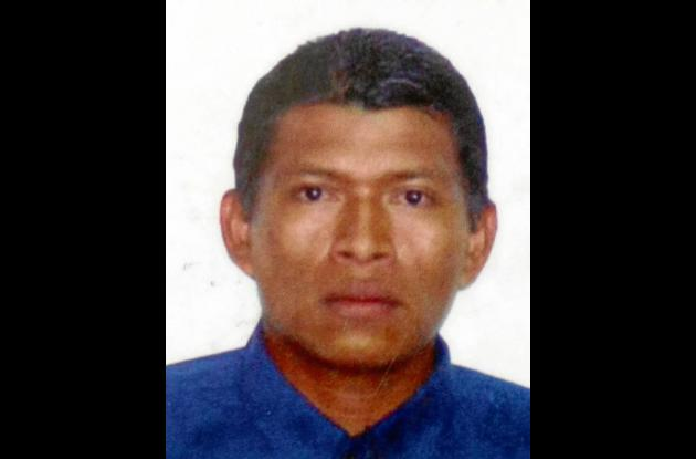 Onalbis Velásquez Lidueñas, muerto.