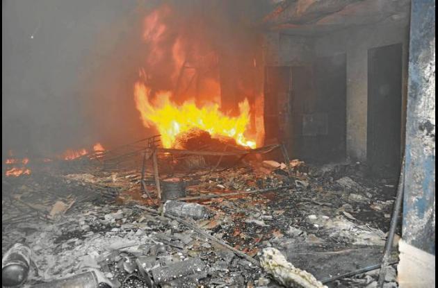 La conflagración se prolongó durante 2 horas.